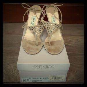 Jimmy Choo London suede sandals 37.5